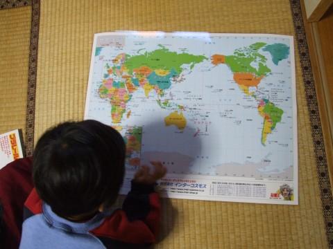 世界地図をプレゼント