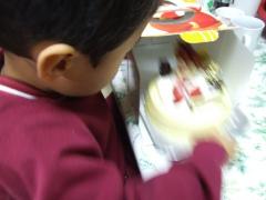 ケーキ登場