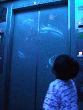 エレベーターに乗って