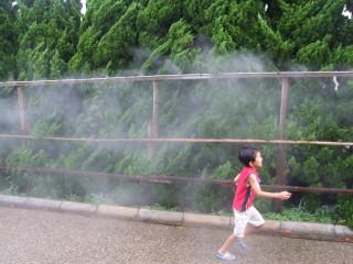 蒸気を浴びて〜〜