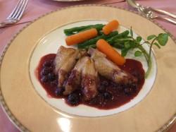 鶏肉のベリーソース
